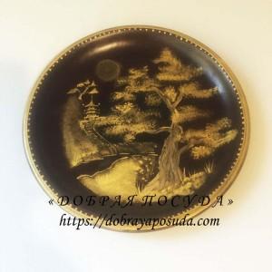 Тарелка на стену Ель японская