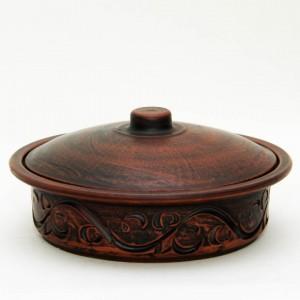 Сковородка малая из красной глины