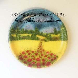 Глиняная тарелка на стену Украина